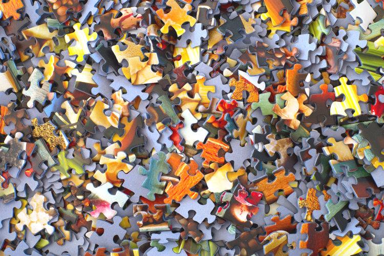 バラバラになったパズル