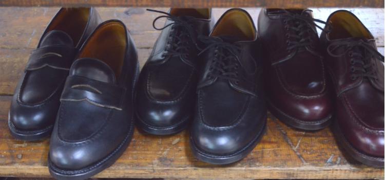 密着する革靴