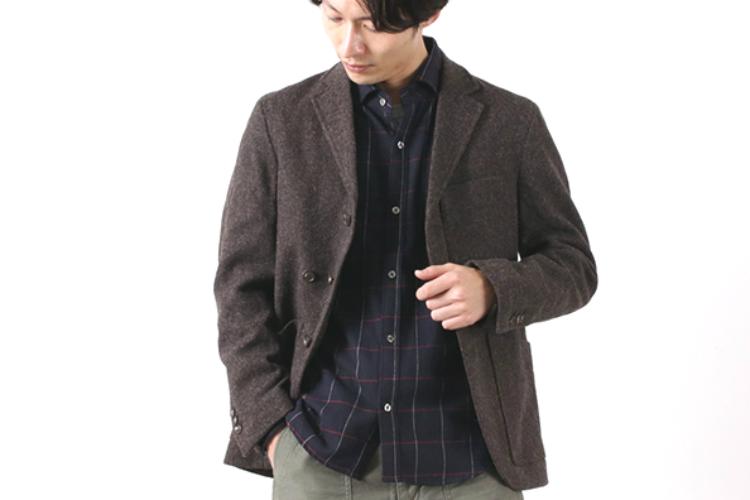 おちついたシャツとジャケット