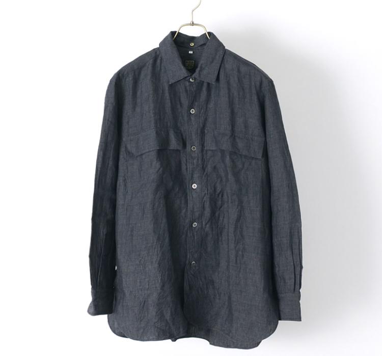 WESTERのフレンチリネンシャツ