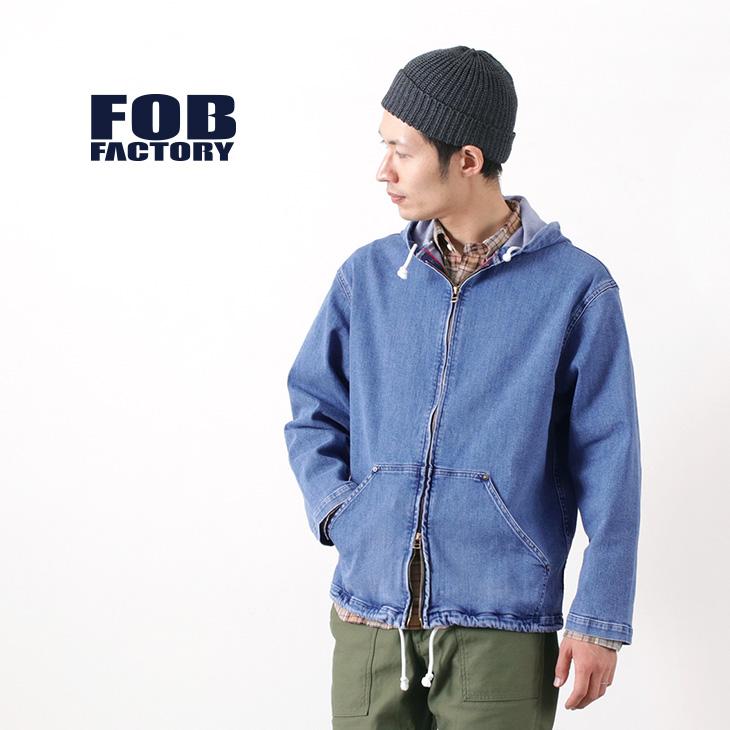 FOB FACTORY(FOBファクトリー) F2396 デニム ヨット パーカー