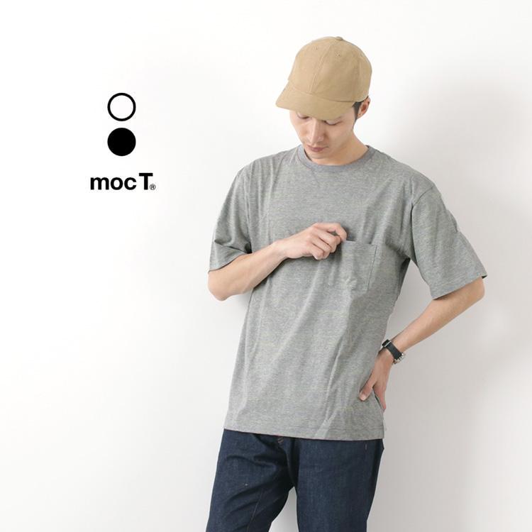 MOC T(モクティー) ネオンイエロー杢 クルーネック ポケットTシャツ