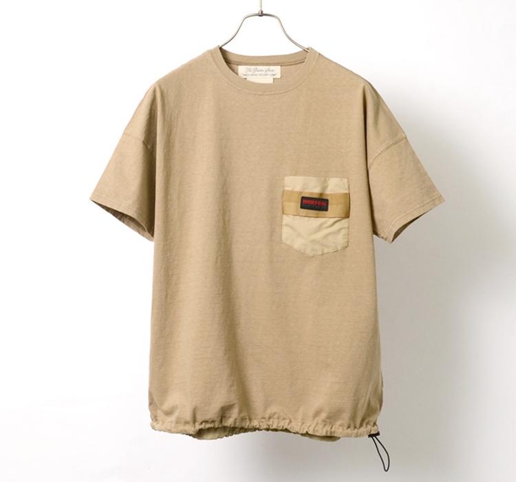 コラボ 天竺 ポケット Tシャツ 12345