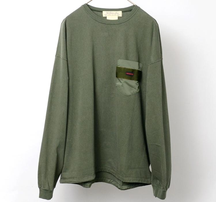 コラボ ポケット ロングスリーブ Tシャツ1    12708