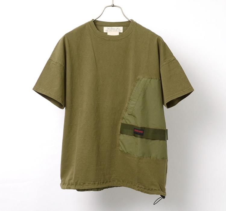 コラボ 天竺 ポケット Tシャツ B
