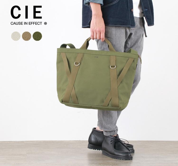 CIE (シー) ダック キャンバス トートバッグ L