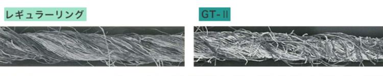 GT2とリング糸の比較