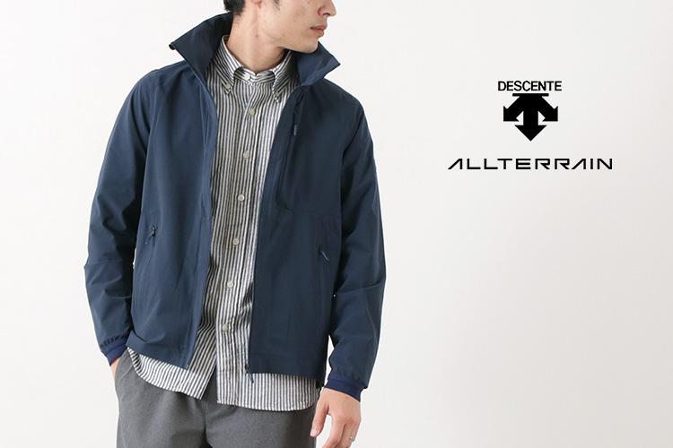 DESCENTE / ALLTERRAIN クールドット パッカブル ジャケットのモデル着用画像