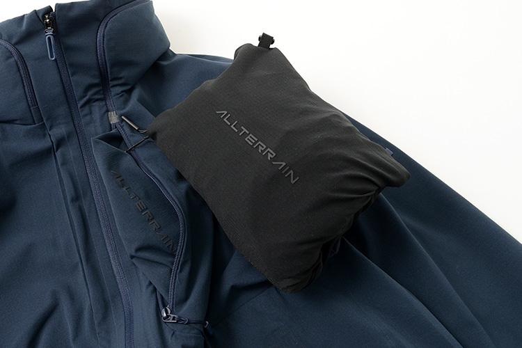 DESCENTE / ALLTERRAIN クールドット パッカブル ジャケットのパッカブル画像