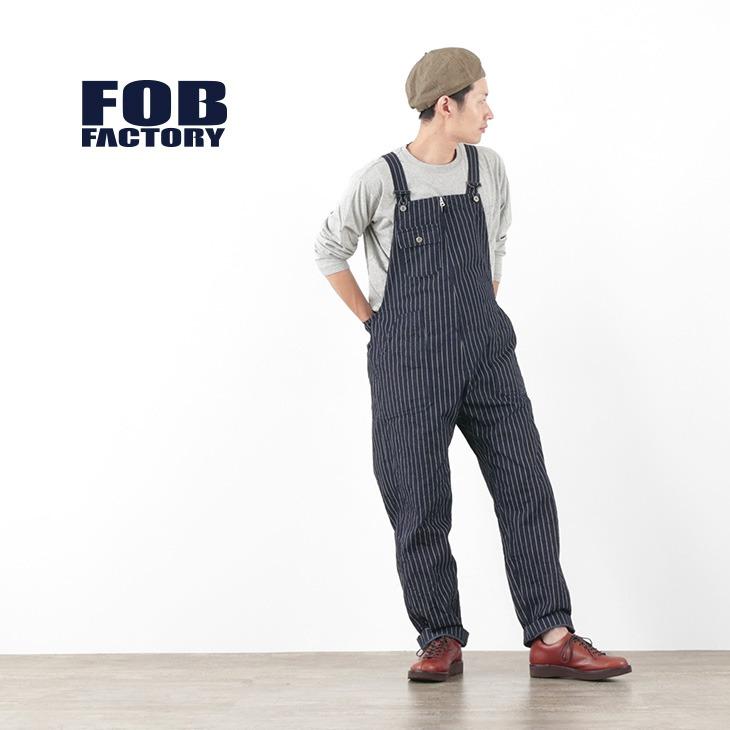 FOB FACTORY(FOBファクトリー) F0479 デニム オーバーオール ウォバッシュ
