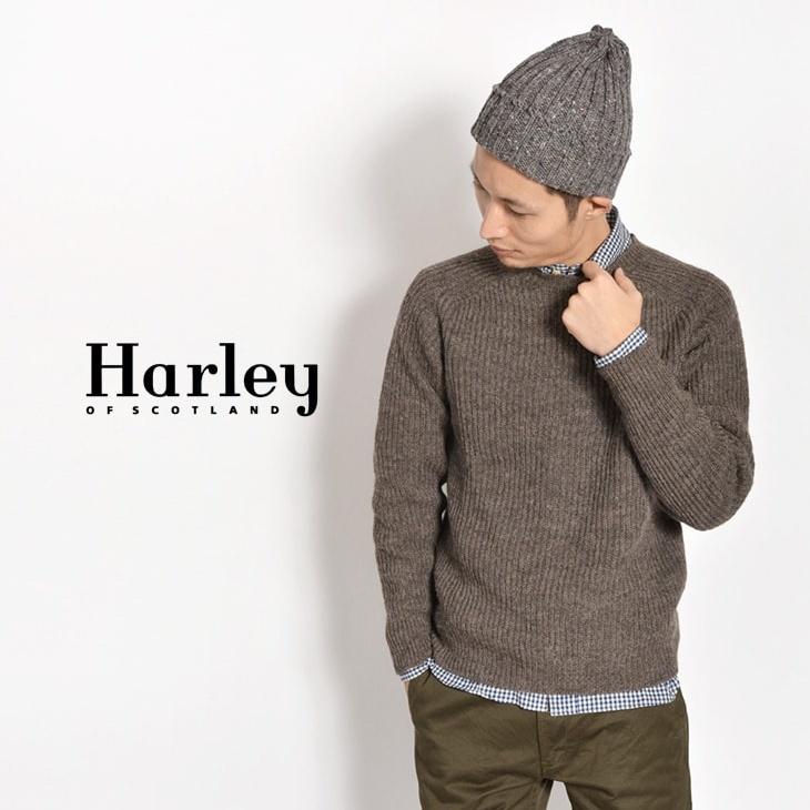HARLEY OF SCOTLAND ヴォートゥルーシェットランド クルーネックセーター