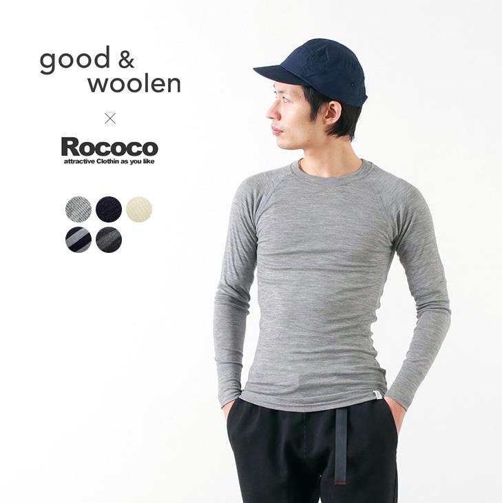 GOOD & WOOLEN 別注 スーパーファインメリノ ロングスリーブTシャツ