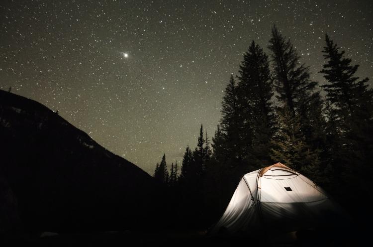 冬キャンプの夜