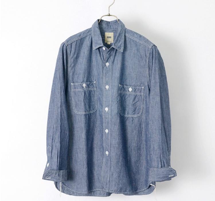 FOB FACTORY F3378 シャンブレーワークシャツ