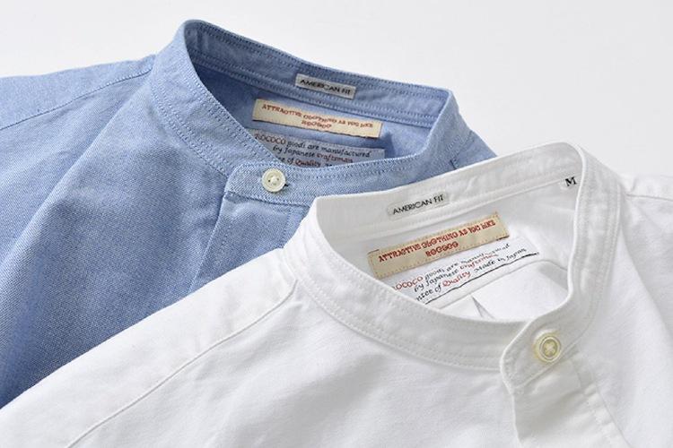 ROCOCO アメリカンオックス バンドカラーシャツ